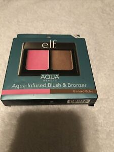New E.L.F. ELF Aqua-Infused Blush & Bronzer Bronzed Violet #57039 B23