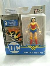 "Dc Wonder Woman 4"" Figure First Edition 3 Mystery Accessories Spin Master New"