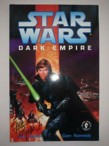 STAR WARS Dark Empire TPB First Edition RARE OOP Dave Dorman SIGNED NM 9.2