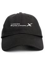 Lancer Evolution X Custom Unstructured Dad Hat Headwear Cap-Black