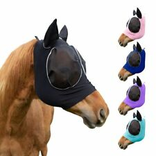 Derby Safety Reflective Bug Eye Uv-Blocker Lycra Horse Fly Mask 1 Year Warranty