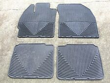 (4) Used WeatherTech Black Rubber Winter Floor Mats #1139