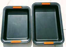 2 x Le Creuset Toughened Non-Stick Bakeware Rectangular Baking Trays Cake Tin