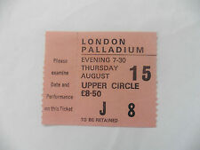 LONDON PALLADIUM USED TICKET UPPER CIRCLE J 8 THURSDAY EVENING 7-30 £8.50 1970'S