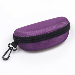 Portable Zipper Eye Glasses Clam Shell Sunglasses Hard Case Pro Protector hot