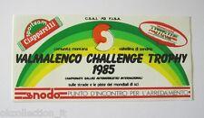 ADESIVO ORIGINALE /Old Sticker RALLY VALMALENCO CHALLENGE TROPHY 1985 (cm 14x7)