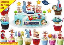 IN THE NIGHT GARDEN Cup Cake Scene Toppers Birthday Party Wafer Edible STAND UP
