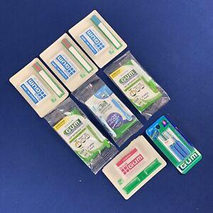 GUM Dental Picks 6 Proxabrush Trav-Ler & 3 Go-Betweens & 1 Proxabrush Refills