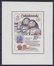 Tschechoslowakei Block 39 II A **, Kosmonauten Space, postfrisch, MNH