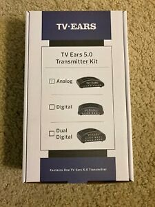 New TV Ears 5.0 Analog Wireless Voice Clarifying Headset System ~ No Headset