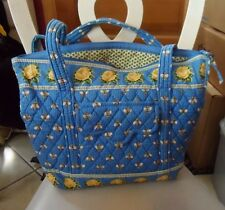 Vera Bradley large Villager tote in retired Blue Bees Pattern