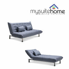 York Fabric Click Clack 3 Seater Modular Lounge Sofa Bed Futon Couch or Chaise