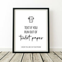 Bathroom Toilet Rules Print Text Out Of Paper Funny Wall Humour Quote Poster