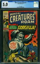 Where Creatures Roam #5 (Marvel, 3/71) CGC 5.0 VG/FN (Gorgilla appearance)