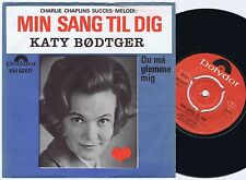 KATY BØDTGER Danish 45PS 1967 Cover This Is My Song CHAPLIN San Remo