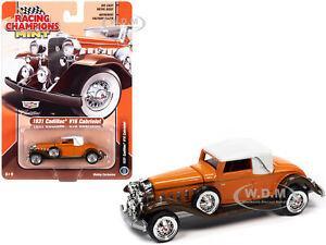 1931 CADILLAC V16 ORANGE & WHITE 1/64 DIECAST MODEL CAR RACING CHAMPIONS RCSP015