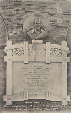 Cartolina RIPATRANSONE –  Monumento a Luigi Mercantini, (14x9cm)