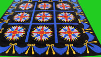 Incredible Mariners Compass QUILT TOP Great Hand Applique swag borders
