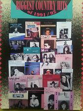 El país más grandes éxitos de 1991/92 (piano/Vocal/Guitarra Cancionero) fuera de la impresión!