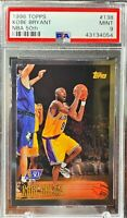 1996-97 Topps Foil NBA 50th Anniversary #138 Kobe Bryant Rookie RC PSA 9 Mint