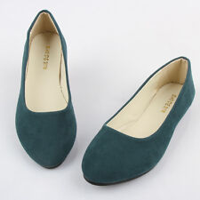 Women Ballerina Ballet Dolly Pump Flats Loafer Faux Leather Casual Slip On Shoes