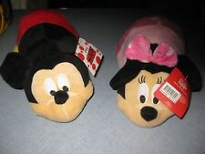 """14"""" DISNEY FLIP A ZOO Plush Animal Mickey And Minnie Mouse  FLIP A ZOO One Toy"""
