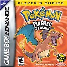 Pokemon: FireRed Version Player's Choice (Nintendo Game Boy Advance, 2006)