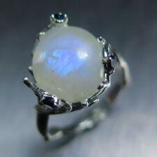 Anelli di lusso blu naturale cabochon