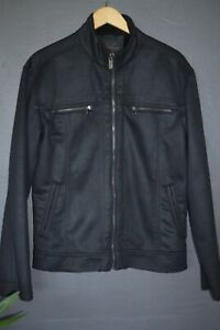 Ben Sherman black jacket...fleece lined..size M...VGC
