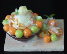 Dollhouse Miniatures Melon Bingsu Korean Dessert Ice Shavings Food Supply Deco