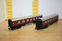 Pair of HO +hornby LMS Passenger 4120 Cars
