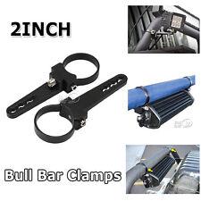 """2PCS 2""""INCH BULLBAR MOUNTING BRACKETS TUBE CLAMP FOR HID SPOT FOG LED LIGHT BAR"""