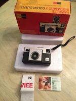Kodak Hawkeye Instamatic X Color Outfit Camera In Original Box, Vintage
