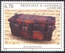 Andorra 1999 Wooden Chest/History/Heritage/Craft/Writing/Books 1v (n41845)