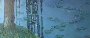 "Original Oil Painting ""Monet's Garden Giverny'"