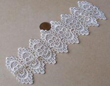 1:12 Scale Hand Made Cream Crochet Table Runner Tumdee Dolls House Miniature Wa