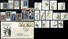 TURKS & CAICOS Postage Stamps Collection Mint NH First Day Cover FDC