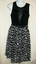 NWT Juniors CHARLOTTE RUSSE Black White Dress Size M Medium