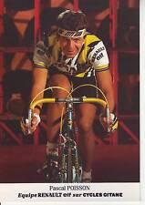 CYCLISME carte cycliste PASCAL POISSON équipe RENAULT ELF 1985
