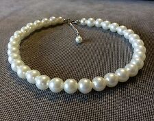 """16-18"""" Beautiful 12 mm Faux Pearl Necklace Wedding Necklace, Bridesmaid Necklace"""