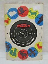 Vintage Western Ammunition Handbook 1957 22nd Edition Gun Rifle Pistol Shotgun
