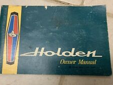 HOLDEN HR OWNERS MANUAL JUNE 1966