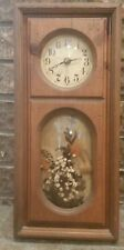Vintage 1980 shadow box wall clock Designs in Time