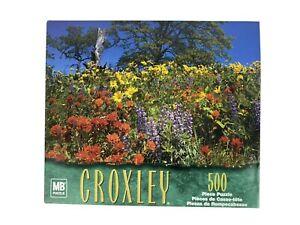Milton Bradley Croxley 500 Piece Jigsaw Puzzle Nature's Garden Floral 2002