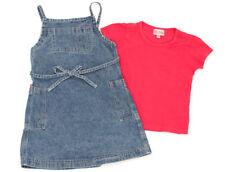 HEMA JeansWickel-Kleid und BLUE QUEEN T-Shirt - 98-104