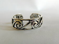Sterling Silver (925) Adjustable Spirals Toe Ring ! Brand New !