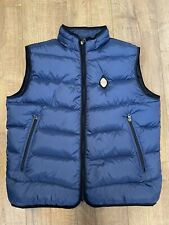 Replay Superior Exclusive Down Jacket Mens Gilet Padded Quilted Blue Hooded - Xl