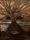 "Original Oil On Canvas ""Black Tide Horizon"" 24x30 inches- Signed"
