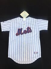 NWT NEW YORK METS JERSEY WHITE - YOUTH BOYS SIZE M MEDIUM  MAJESTIC