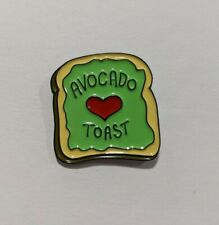 Avocado Toast Unique Brooch or Pin to Hat Lanyard Sweater Lapel Pocket Backpack